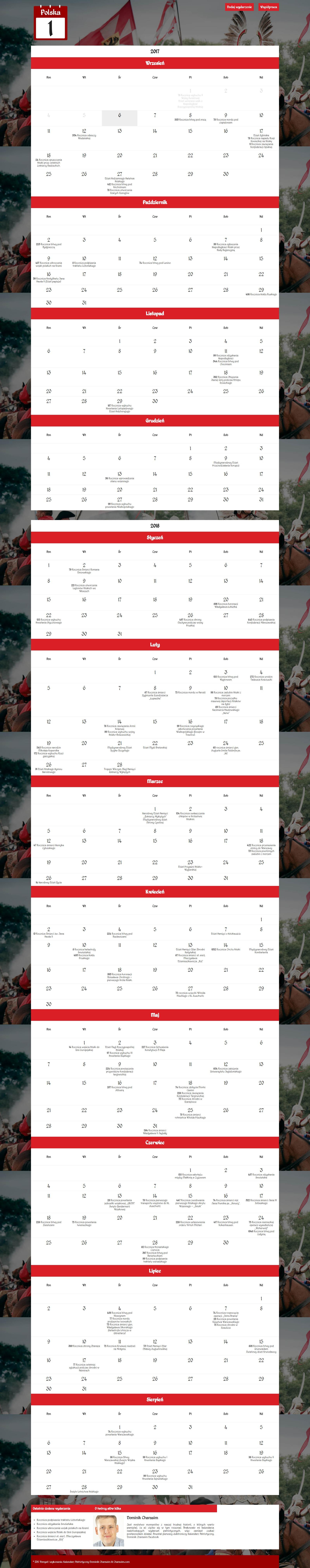 Kalendarz patriotyczny 1