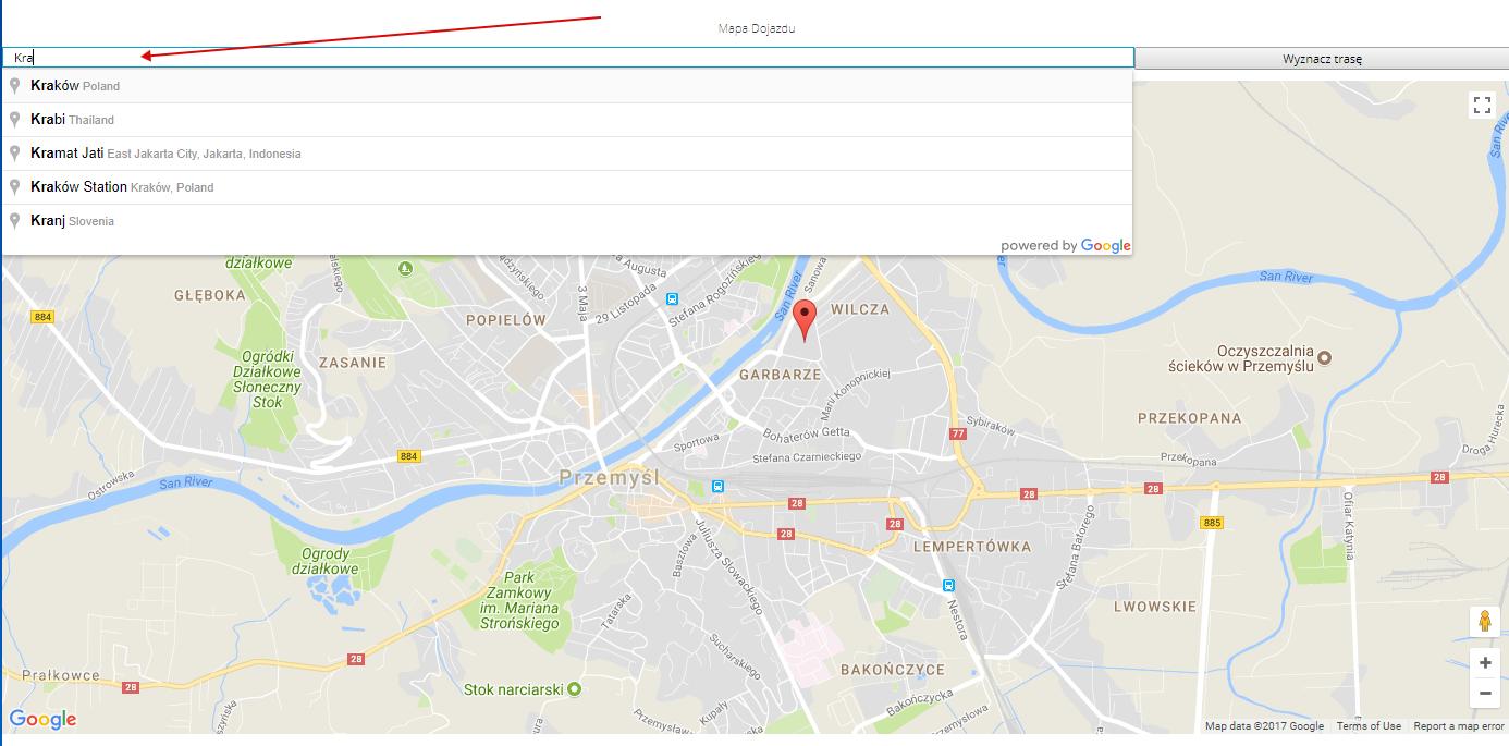 Google Map dojazd 3