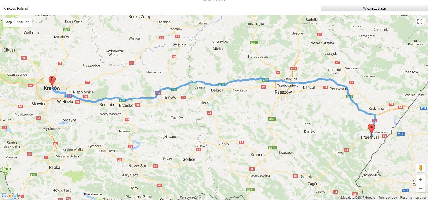 Google Map dojazd 4